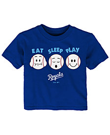 Outerstuff Kansas City Royals Eat, Sleep, Play T-Shirt, Infant Boys (12-24 Months)