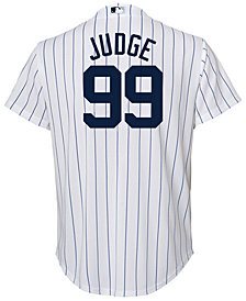 Majestic Aaron Judge New York Yankees Player Replica Cool Base Jersey, Little Boys (4-7)
