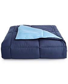 Martha Stewart Essentials Reversible Down Alternative Full/Queen Comforter, Created for Macy's
