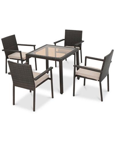 Santorini 5-Pc. Square Dining Set, Quick Ship