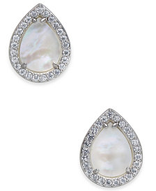 Danori Mother-of-Pearl & Pavé Teardrop Stud Earrings, Created for Macy's