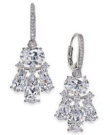 Danori Silver-Tone Crystal Small Chandelier Earrings, Created for Macy's