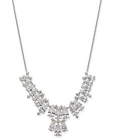 Danori Silver-Tone Marquise Crystal Statement Necklace, Created for Macy's