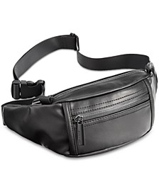 Men's Faux-Leather Fanny Pack