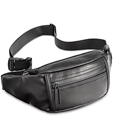 Steve Madden Men's Faux-Leather Fanny Pack