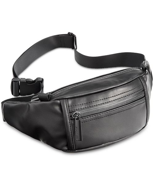 5ebc8e94bc96 Steve Madden Men s Faux-Leather Fanny Pack   Reviews - All ...