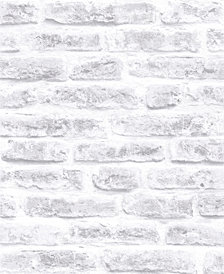 Graham & Brown Brick White Wallpaper