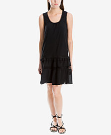 Max Studio London Cotton Embroidered-Trim Shift Dress, Created for Macy's