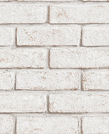 Graham & Brown Brick White/Red Wallpaper