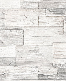 Graham & Brown Shiplap Wood Beige Wallpaper
