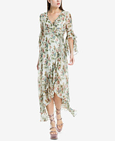 Max Studio London Ruffle-Trim Wrap Dress, Created for Macy's