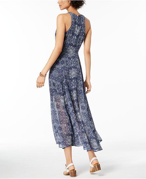 c1b2757ebaf Tommy Hilfiger Printed Overlay Maxi Dress   Reviews - Dresses ...