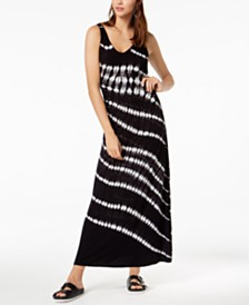 I.N.C. Tie-Dyed Studded Maxi Dress, Created for Macy's