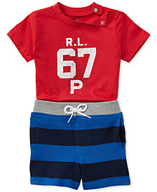 Ralph Lauren Cotton T-Shirt & Shorts Set, Baby Boys