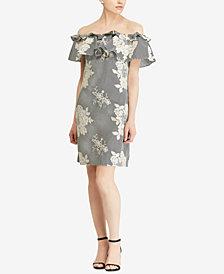 Lauren Ralph Lauren Floral-Print Off-The-Shoulder Dress