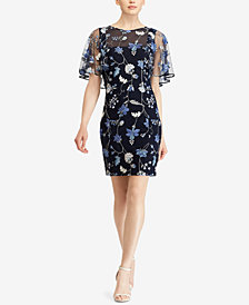 Lauren Ralph Lauren Embroidered Floral-Print Dress
