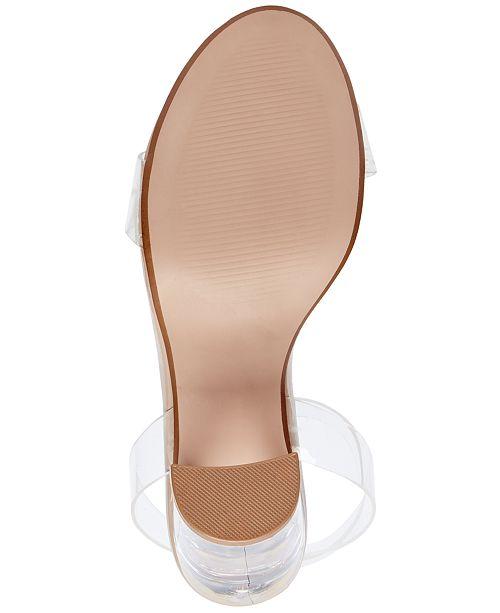 2712e0510ca65 Steve Madden Women s Camille Lucite Dress Sandals   Reviews ...