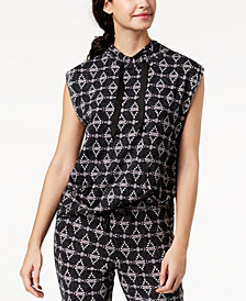 Ande Lush Luxe Drawstring-Neck Pajama Tunic