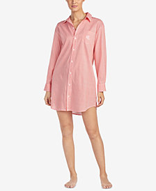 Lauren Ralph Lauren Seaside Classic Petite Striped Sleepshirt