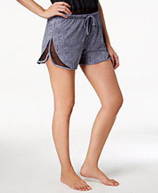 Ande Lush Luxe Mesh-Panel Pajama Shorts