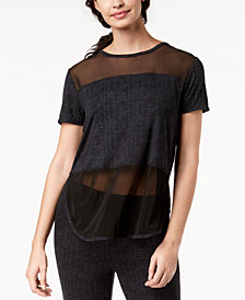 Ande Lush Luxe Mesh-Panel Pajama Top