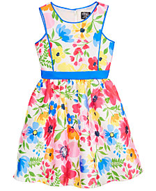 Pink & Violet Toddler Girls Floral-Print Dress