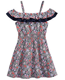 Epic Threads Little Girls Printed Ruffle-Trim Dress, Created for Macy's