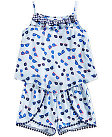 Epic Threads Toddler Girls Ruffle-Trim Tank Top & Pom Pom-Trim Shorts, Created for Macy's