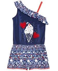 Epic Threads Little Girls Ice Cream Cone Romper, Created for Macy's