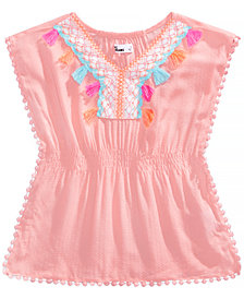 Epic Threads Little Girls Crochet-Trim Caftan Top, Created for Macy's