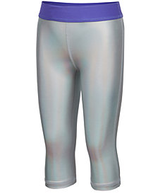 Ideology Little Girls Hologram Metallic Capri Leggings,  Created for Macy's