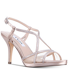 Nina Blossom Strappy Embellished Evening Sandals