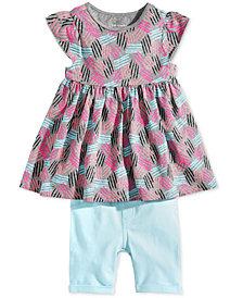 First Impressions Baby Girls Printed Tunic & Bermuda Shorts Separates, Created for Macy's