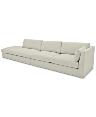 Kala 2-Pc. Fabric Sectional with Bumper Chaise
