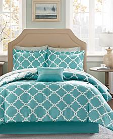 Merritt Reversible 9-Pc. Queen Comforter Set