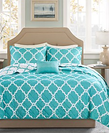 Madison Park Essentials Merritt Reversible 4-Pc. Full/Queen Coverlet Set