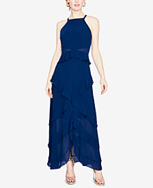RACHEL Rachel Roy Ruffled V-Back Gown