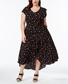 John Paul Richard Plus Size Strappy-Back Fit & Flare Dress