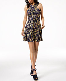 MICHAEL Michael Kors Metallic-Print Dress in Regular & Petite Sizes