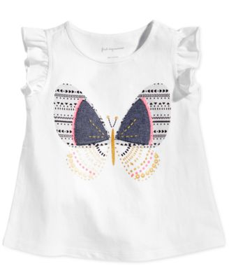 Baby Girls Safari Graphic-Print Cotton Top, Created for Macy's