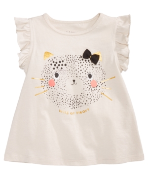 First Impressions Baby Girls Safari GraphicPrint Cotton Top Created for Macys