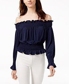 MICHAEL Michael Kors Off-The-Shoulder Crop Top