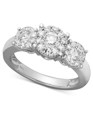 Diamond Engagement Ring in 14k White Gold (1 ct. t.w.)