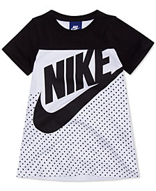 Nike Little Girls Futura Graphic-Print Cotton Dress