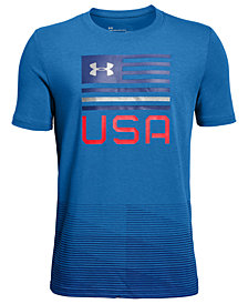 Under Armour  Big Boys USA-Print T-Shirt