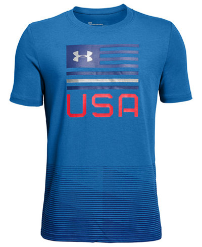 Under Armour Big Boys USA-Print T-Shirt