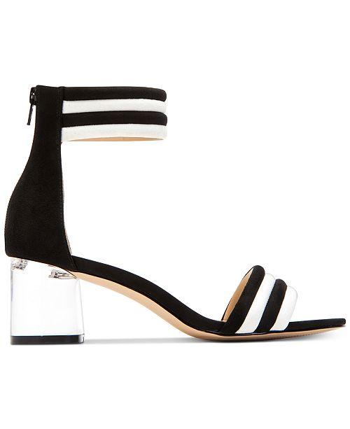 The Sierra Mircosuede Block Heel Dress Sandals msNZGMbK