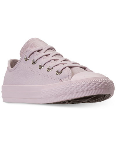 Converse Big Girls' Chuck Taylor All Star Leather Ox Casual Sneakers from Finish Line