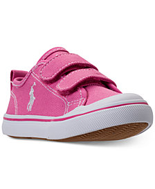 Polo Ralph Lauren Toddler Girls' Karlen EZ Casual Sneakers from Finish Line