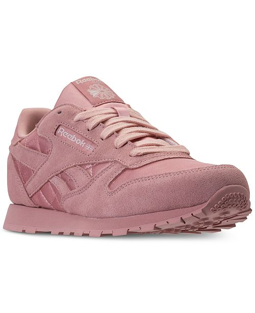 1a503b1f9b55f ... Reebok Big Girls  Classic Leather Satin Casual Sneakers from Finish ...